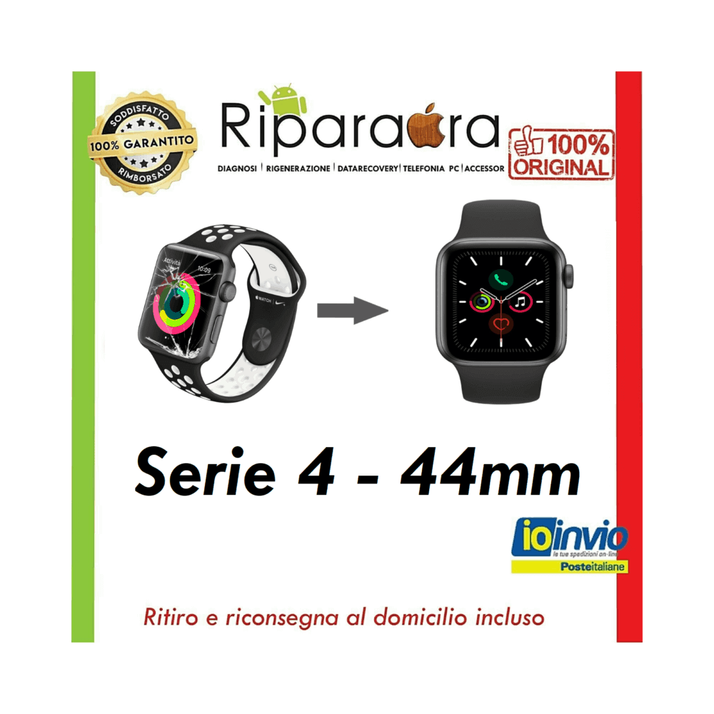 rigenerazione vetro apple watch serie 4 44mm