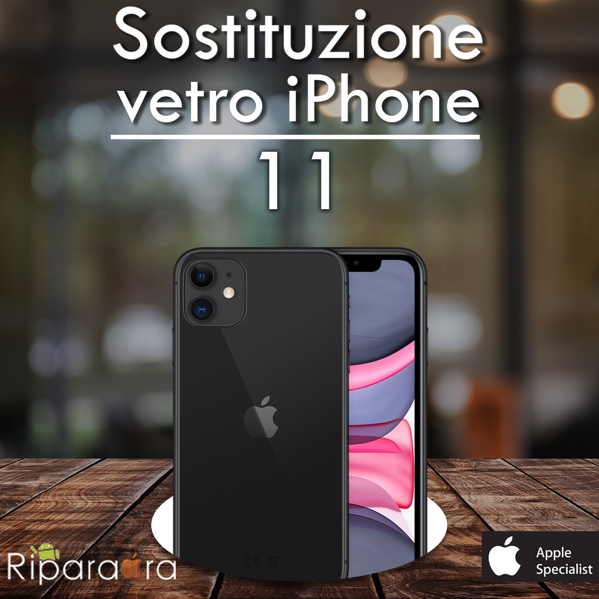 Iphone 11 Riparazione Sostituzione Vetro Riparaora