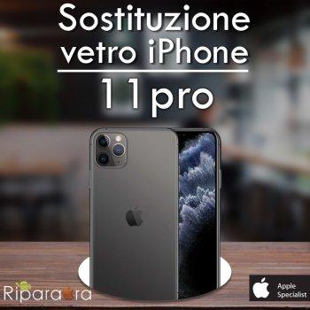 sostituzione vetro iphone 11 pro
