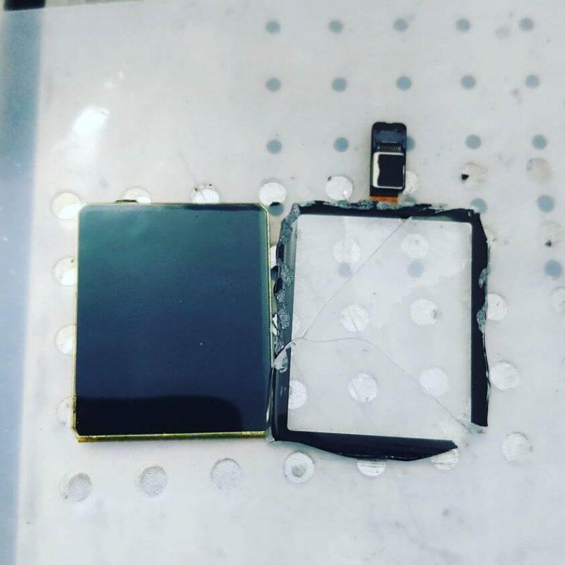separazione vetro apple watch