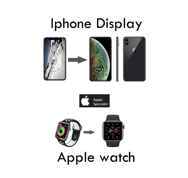 riparazione vetro iphone sostituzione apple watch