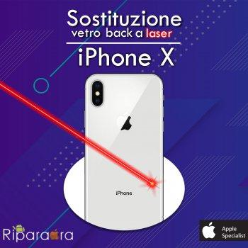 sostituzione vetro posteriore iphone x