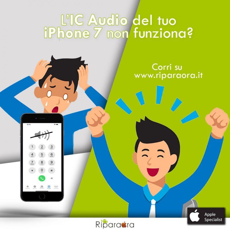 problema audio iphone 7