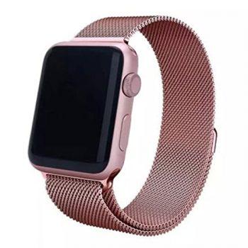 milanese cinturino rosa loop apple watch