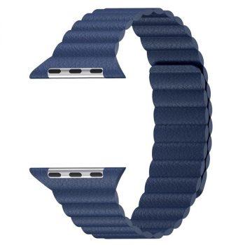 cinturino loop similpelle blu